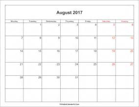 august 2017 calendar with holidays weekly calendar template