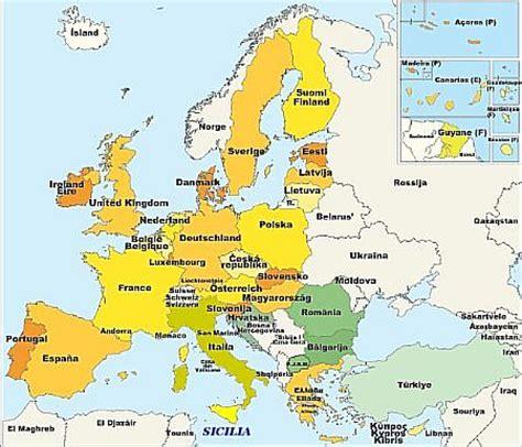 cartina europa est images