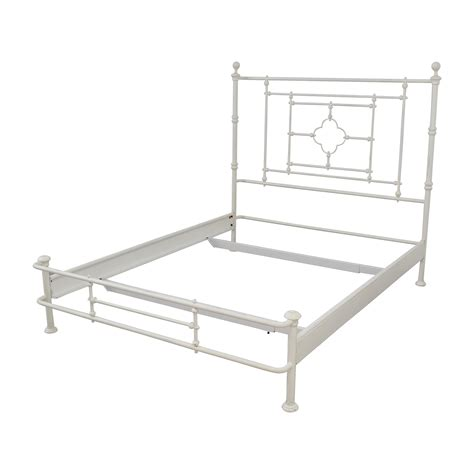 white metal queen bed frame 48 off restoration hardware restoration hardware white