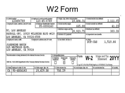w2 form unit 1 financial planning income and taxes ppt video