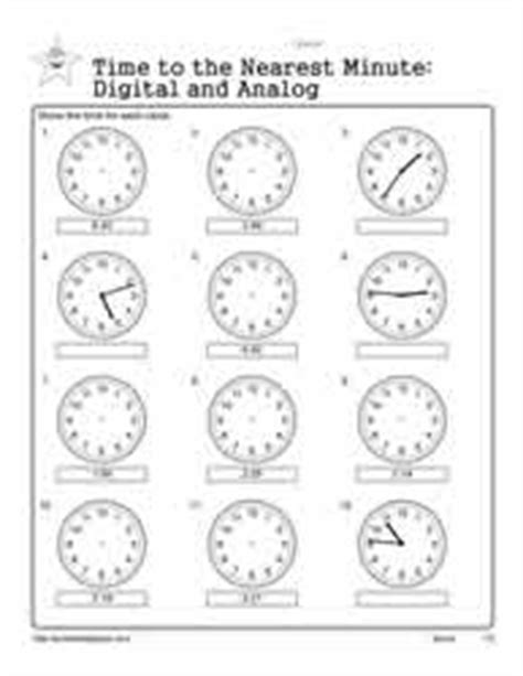 clock worksheet nearest minute telling time to the nearest minute worksheets