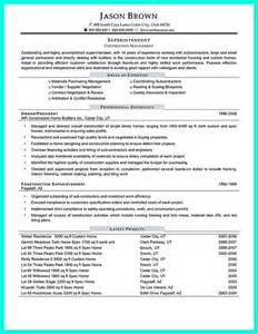 Commercial Project Manager Sle Resume by Construction Project Manager Resume For Experienced One Must Be Made With Professional Profile