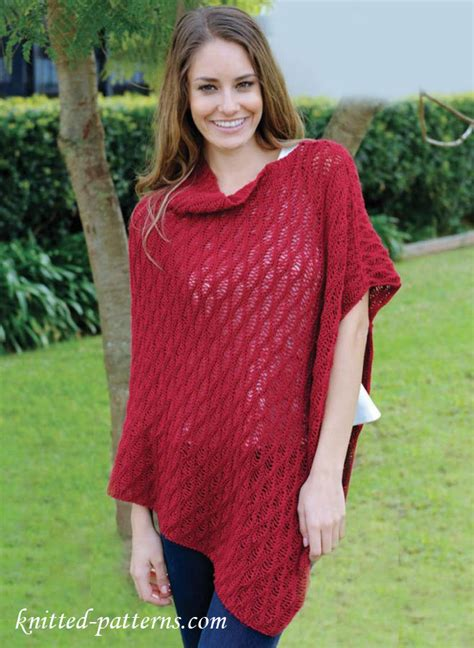 knitted poncho for asymmetric poncho knitting pattern free