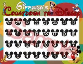 disney countdown calendar template disney countdown calendar printable new calendar
