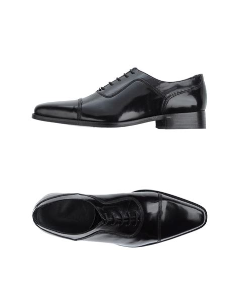 rochas shoes lyst rochas lace up shoes in black for