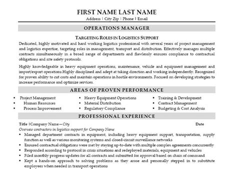 11 best best it manager resume templates sles images on resume exles sle