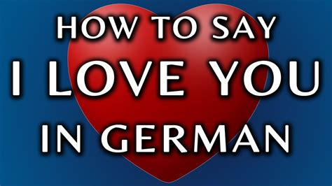 how do you say in german how to say i you in german