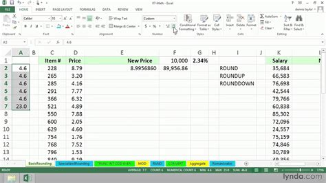 round numbers up to the nearest 5 or 10 in excel