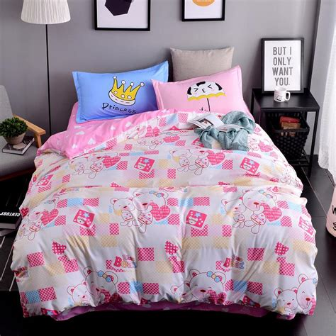 Shop Bedding Sets Aliexpress Buy New Printed Pink Sweetheart