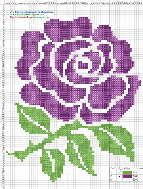 imagenes flores en punto de cruz dibujos punto de cruz gratis flores pinteres