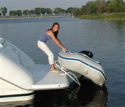 inflatable boat swim platform mounts hurley davits davit systems for inflatable boats