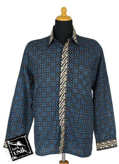 Kemeja Batik Lengan Panjang Parang M881 baju batik kemeja panjang motif parang belimbing kemeja lengan panjang murah batikunik