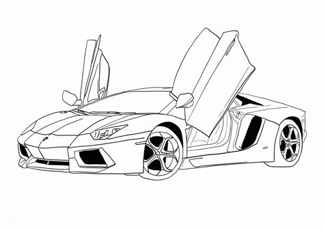 pages of cars a car step by step coloring pages