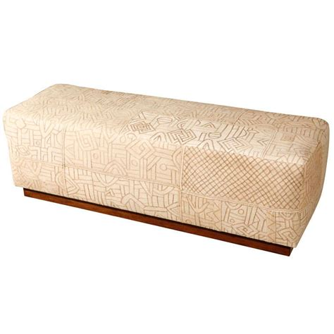 cloth bench furniture vintage african kuba cloth bench at 1stdibs