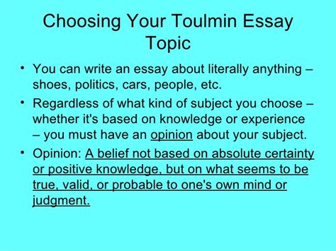 Toulmin Essay Exle by Toulmin Essay Exles Of Argument Essay Argumentative Essay Exle Ayucar