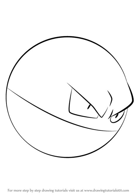pokemon coloring pages voltorb learn how to draw voltorb from pokemon pokemon step by