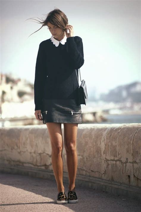 Fashion 832 Leather 161 descubre el estilo na 239 f y las cinco prendas para lograrlo preppy sweater and leather skirts