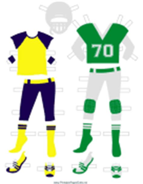 How To Make A Paper Football Player - sports paper dolls