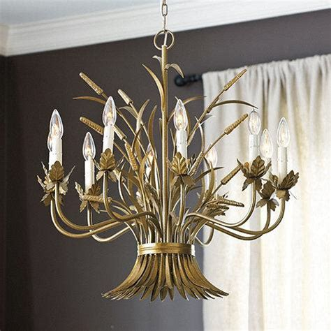 wheat sheath chandelier 10 light ballard designs