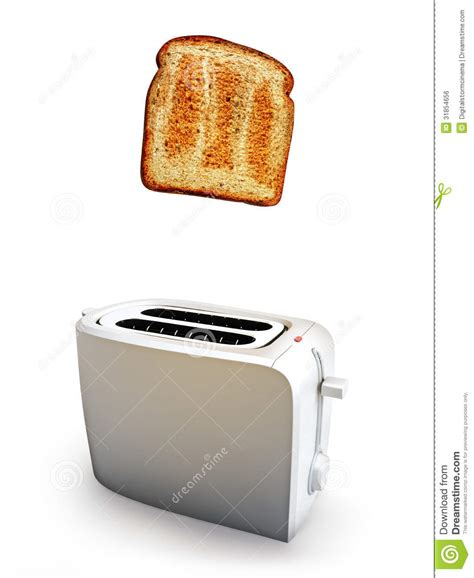 How To Get Toast Out Of Toaster toast popping out of a toaster royalty free stock image