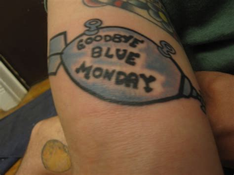 kurt vonnegut tattoo goodbye blue monday contrariwise literary tattoos