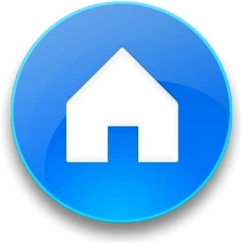 rounded blue home button free icon in format for free