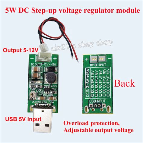 how to step dc voltage using resistors dc dc converter usb step up boost power supply module 5v to 5v 12v adjustable ebay