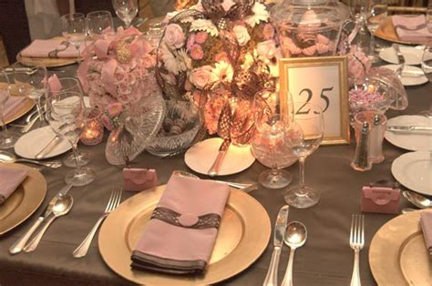 Pink And Brown Decorations by Pink And Brown Color Scheme Wedding Table Decorations