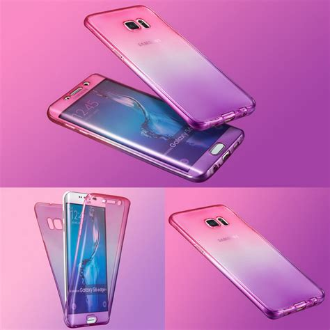 Samsung Galaxy S6 Edge Gradient Rainbow Ultra Slim Soft Cover gradient color 360 front and back protective tpu for samsung galaxy s6 edge alex nld