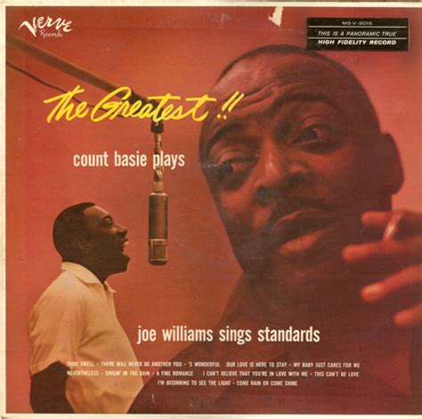 count basie orchestra swinging singing playing count basie the greatest count basie plays joe williams