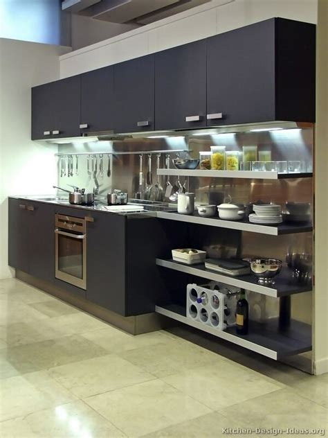 Kitchen Cabinets Open Pictures Of Kitchens Modern Black Kitchen Cabinets