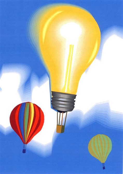 Light Bulb Air Balloon up and away bright ideas for door decor and more attentionology