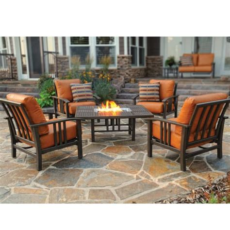 pit furniture set trenton seating by homecrest patio furniture
