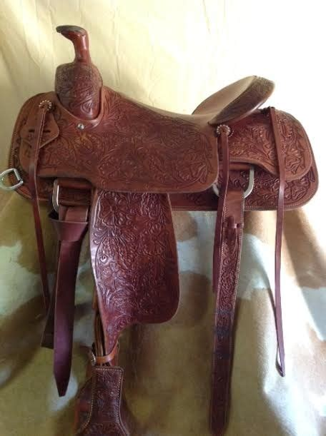 Handmade Ranch Saddles - custom ranch saddle built by david leslie