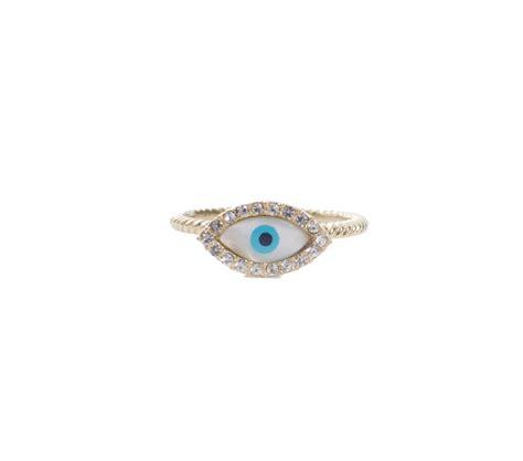 gold evil eye ring always by diaz