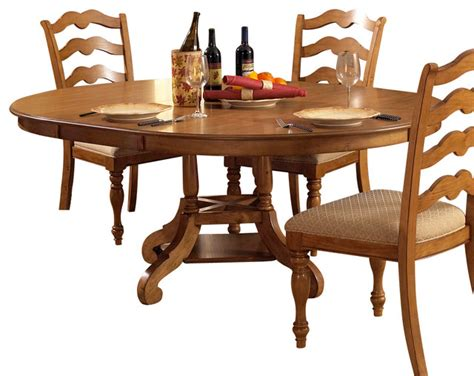 Houzz Dining Tables Hillsdale Htons Dining Table With Leaf In Weathered Pine Traditional Dining Tables