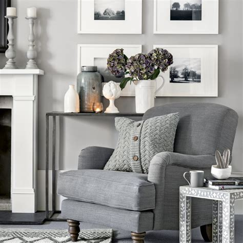 light grey living room ideas warm light grey living room with cosy armchair and knitted