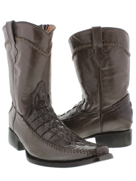 dressy cowboy boots s brown dressy crocodile western cowboy boots with