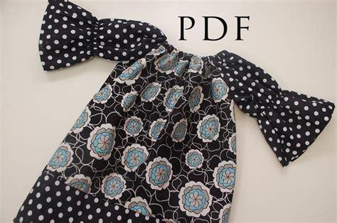 peasant shirt pattern girl the brooke dress or shirt sewing pattern long short