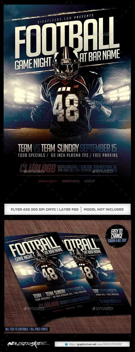 buy flyer templates football flyer template psd buy and