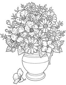 Galerry flower coloring coloring pages
