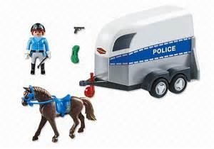 jouet playmobil 6922 polici 232 re avec et remorque