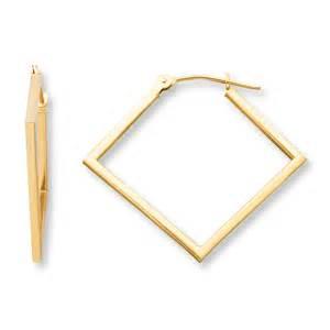 Jared square hoop earrings 14k yellow gold