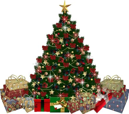 christmas tree watering present tree with presents gif by rumiwater photobucket
