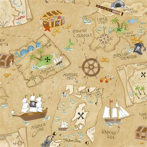 Wall Mural Maps papel de parede infantil marrom com mapa do pirata peek