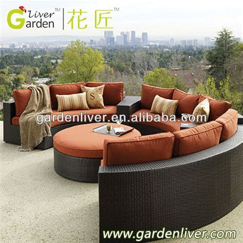 round outdoor sectional sofa outdoor pe wciker half round sectional sofa buy half