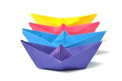 Origami Cruise Ship - up origami ship white stock photo image 46125127