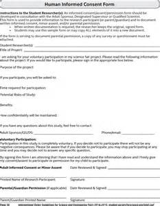 informed consent form template human informed consent form for free formxls