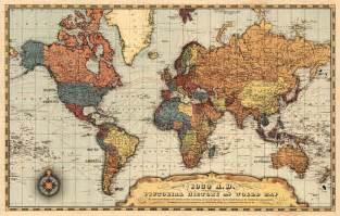 restored vintage maps