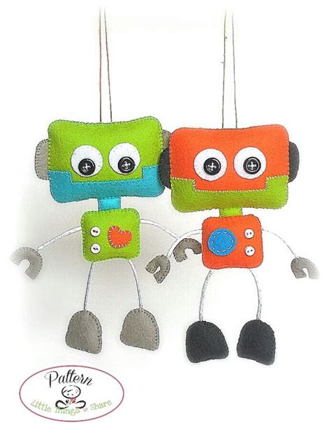 Handmade Toys Patterns - smileys robots and sewing on